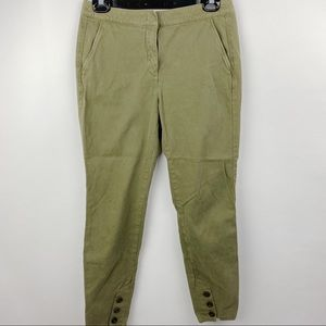 See by Chloe army green cropped jogger pants